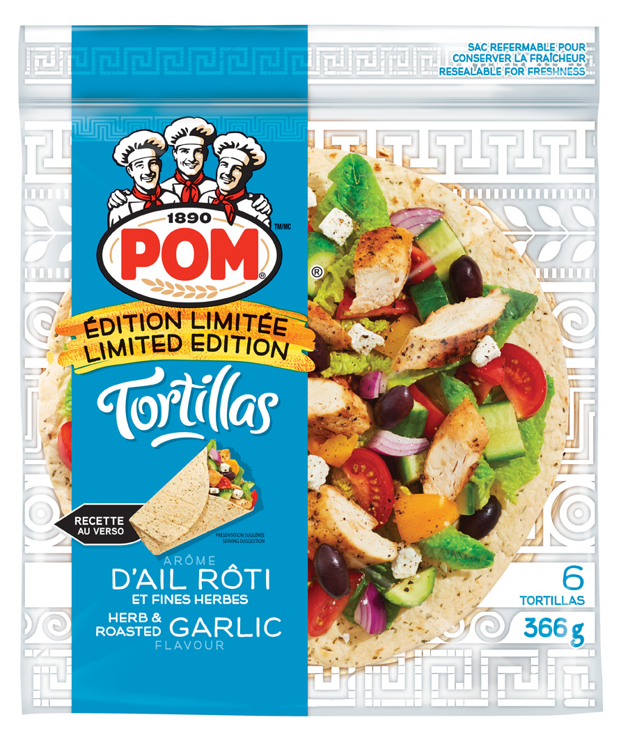 POM® Herb & Roasted Garlic Flavour Tortilla