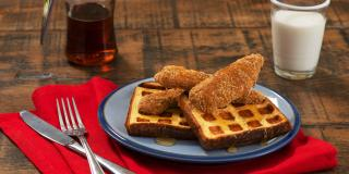 Chicken and Waffles Toast