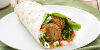 Falafel Wraps with Pickled Carrots