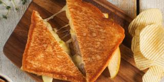 Sausage and Apple Grilled Cheese